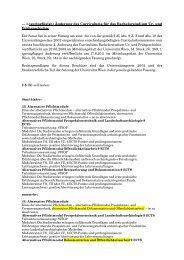und Masterstudiums Ur - Senat - Universität Wien