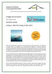 Karibik Nord mit TUI Mein Schiff - 8 Tage ... - KUS Reisen
