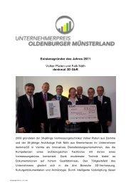 Volker Platen und Falk Näth - Verbund Oldenburger Münsterland