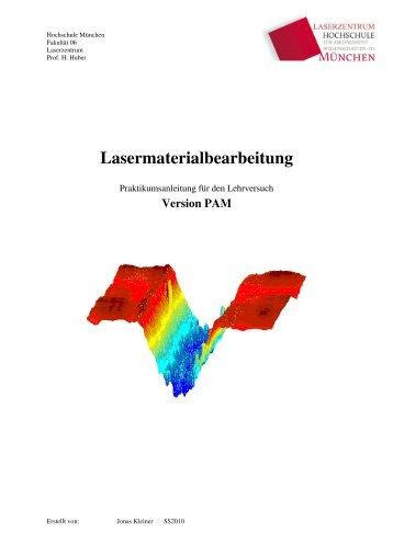 Lasermaterialbearbeitung - Fakultät 06 - Hochschule München