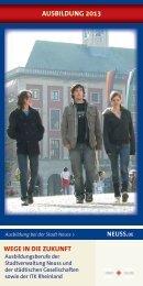 Berufsausbildung 2013 bei der Stadt Neuss - Neuss am Rhein