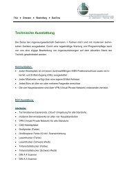 Technische Ausstattung - Ingenieurgesellschaft Dr. Siekmann + ...
