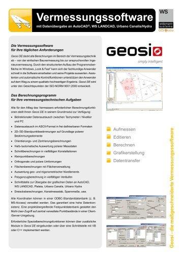 Vermessungssoftware - Widemann Systeme GmbH