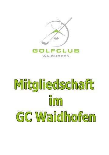 FUN COURSE MITGLIEDSCHAFT - Golfclub Waidhofen