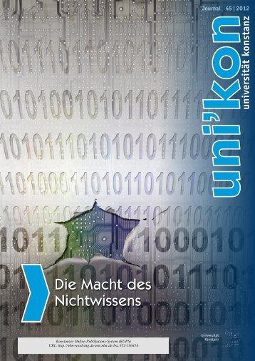 2. KONSTANZER DER WISSENSCHAFT 5. Mai 2012 www ...