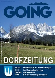 Dorfzeitung März 2007 - Going am wilden Kaiser - Land Tirol