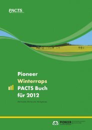 Pioneer Winterraps PACTS Buch für 2012 - DuPont Pioneer Hi-Bred ...