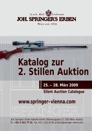 Katalog zur 2. Stillen Auktion - Springer