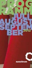 ber2012 - Kunstforum Ostdeutsche Galerie Regensburg