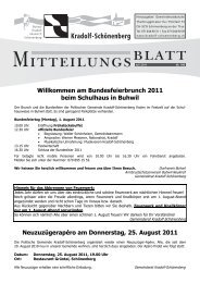 Mitteilungsblatt Juli 2011 - Gemeinde Kradolf-Schönenberg