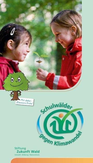 Die speziel Schulwaldbroschüre begleitet das Projekt!