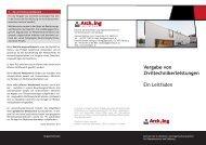 Vergabe von Ziviltechnikerleistungen - Kammer der Architekten und ...