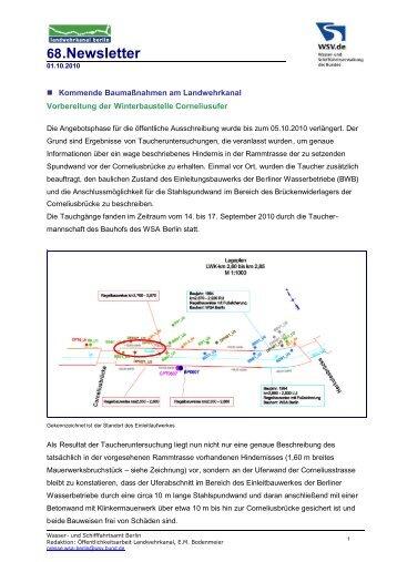68.Newsletter - Wasser- und Schifffahrtsamt Berlin
