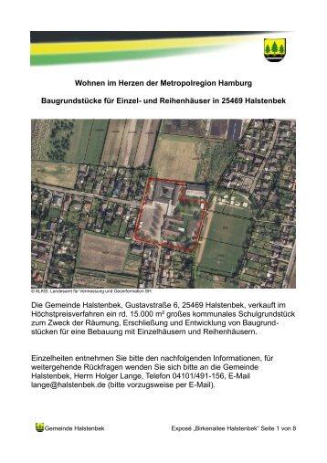 Das Grundstück - Gemeinde Halstenbek