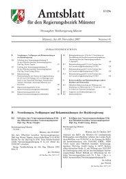 Ausgabe Nr. 45 vom 09.11.2007 / lfd. Nr - Bezirksregierung Münster