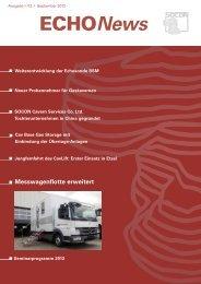 ECHONews - SOCON Sonar Control Kavernenvermessung GmbH