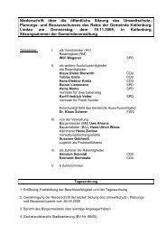 Niederschrift der Sitzung vom 19.11.2009 - Katlenburg-Lindau