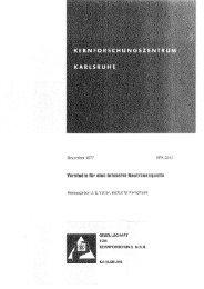 Dezember 1977 KFK 2542 Herausgeber: J. E. Vetter, Institut für ...