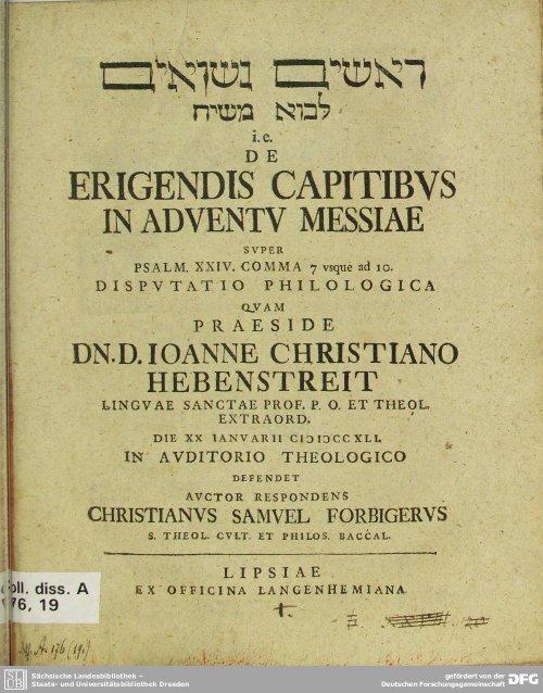 Page 1 i. e. ~ ERIGENDISD ÈAPITIBVS IN ADVENIV MESSIAE ...