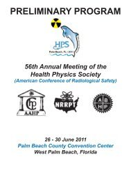 56th Annual Meeting of the Health - Health Physics Society