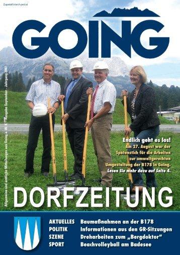 DORFZEITUNG - Going am wilden Kaiser - Land Tirol