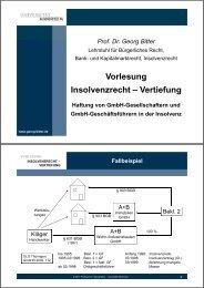 Vertiefung - Lehrstuhls für Bürgerliches Recht, Bank - Universität ...
