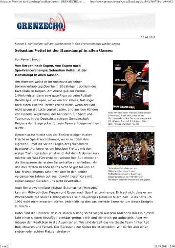 Sebastian Vettel ist der Hansdampf in allen Gassen ... - PFF
