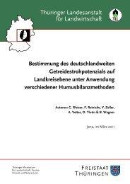 Bestimmung des deutschlandweiten Getreidestrohpotenzials ... - TLL