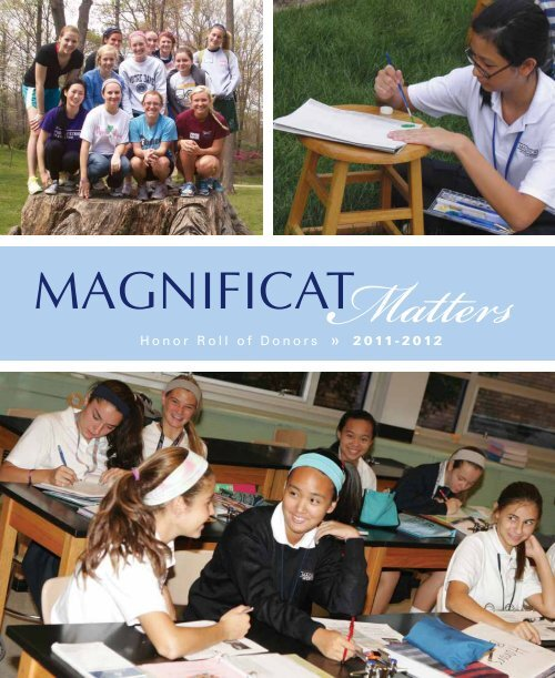 Honor Roll of Donors « 2011-2012 - Magnificat High School