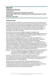 BGG 905 Prüfung von Kranen - VETTER Kranservice