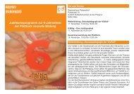 Jubiläumsprogramm zur 6-Jahresfeier der Plattform sexuelle Bildung