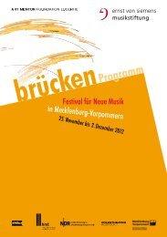 Programm Brücken-Festival 2012 - Hochschule für Musik und ...