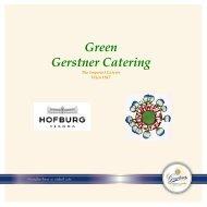 Gerstner Catering HOFBURG Green Catering