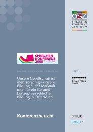 Bericht Sprachenkonferenz 2008 - Österreichisches Sprachen ...