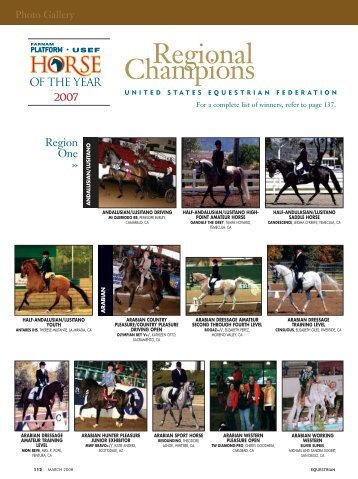 03-08 Regions Gallery.qxd - The United States Equestrian Federation