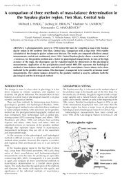 A comparison of three methods of mass-balance determination in ...