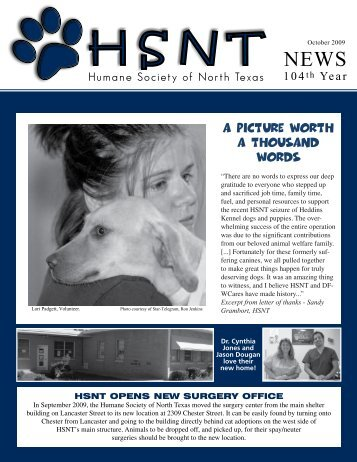 104th Year - Humane Society of North Texas