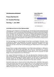 Presse-Nachbericht Int. Kurpfalz-Renntag Sonntag, 1. Juni 2008