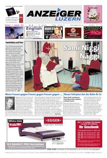 Anzeiger Luzern, Ausgabe 49, 5. Dezember 2012