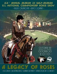 a legacy of roses - Arabian Horse Association