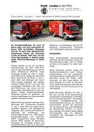 Stadt Landau in der Pfalz - Feuerwehr Landau in der Pfalz