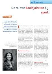 De rol van koolhydraten bij sport - Suikerinfo.nl