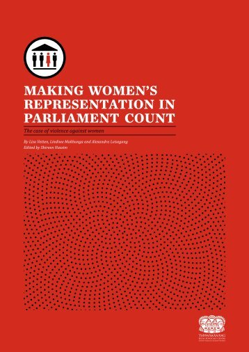 Making WoMen's RepResentation in paRliaMent Count