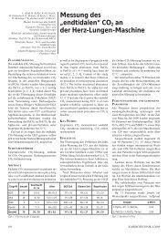"""Messung des """"endtidalen"""" CO2 an der Herz-Lungen-Maschine"""