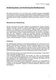 Kohlenhydrate und Kohlenhydrat-Stoffwechsel - Online Media Server