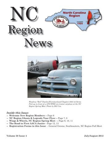 NC Region News July, August 2012.indd - NC Region AACA