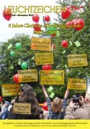 Leuchtzeichen Nr 15. vom Juli 2012 (5,9 - Evangelische Christus ...