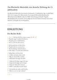 Das Rheinische Marienlob. Eine deutsche Dichtung des 13 ...