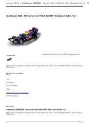 Stadlbauer 20061236 Carrera Go!!! Red Bull RB7 Sebastian Vettel ...