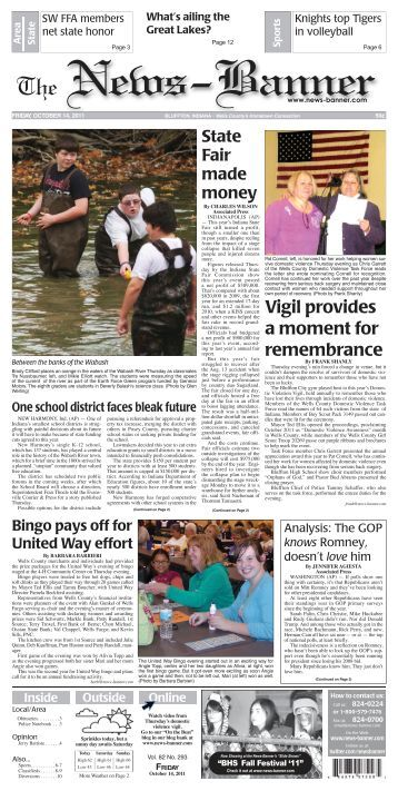 LIVE UNITED? - Bluffton News Banner